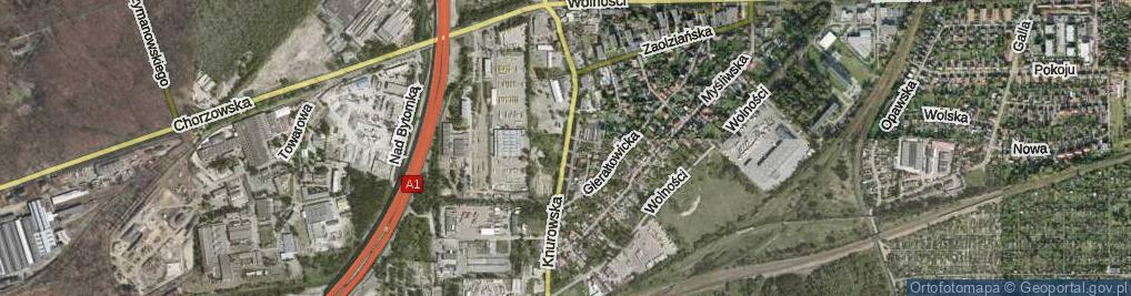 Zdjęcie satelitarne Knurowska ul.