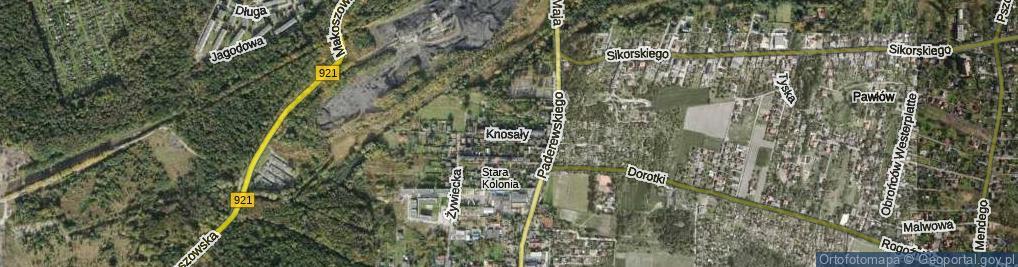 Zdjęcie satelitarne Knosały Józefa, ks. ul.