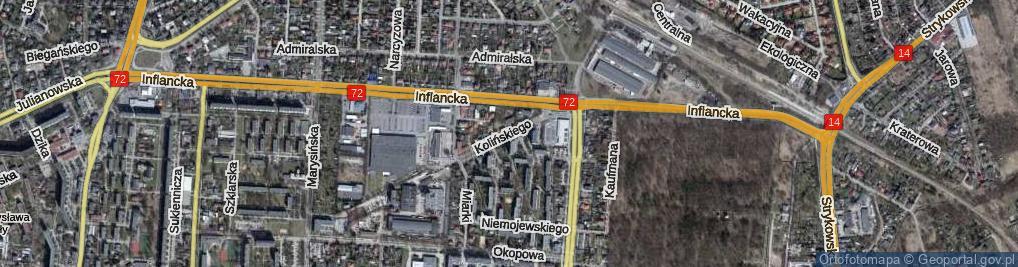 Zdjęcie satelitarne Kolińskiego Józefa, dr. ul.