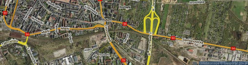 Zdjęcie satelitarne Kopalniana ul.
