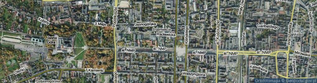 Zdjęcie satelitarne Kossak-Szczuckiej ul.