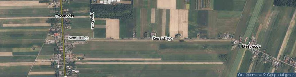Zdjęcie satelitarne Kowalskiego Izydora, ks. ul.