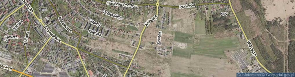 Zdjęcie satelitarne Kowarzyków ul.