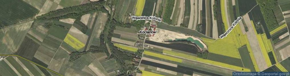 Zdjęcie satelitarne Kocianów ul.