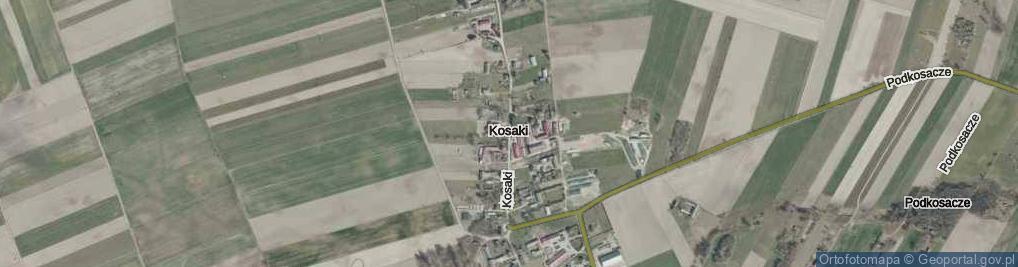 Zdjęcie satelitarne Kosaki ul.