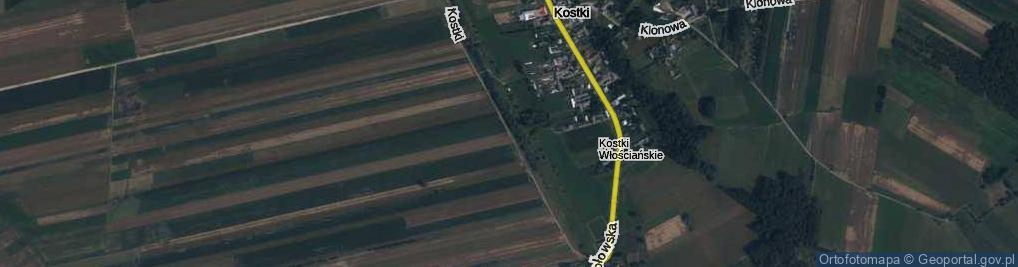 Zdjęcie satelitarne Kostki ul.