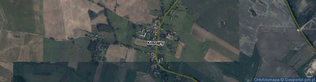 Zdjęcie satelitarne Koszajny ul.