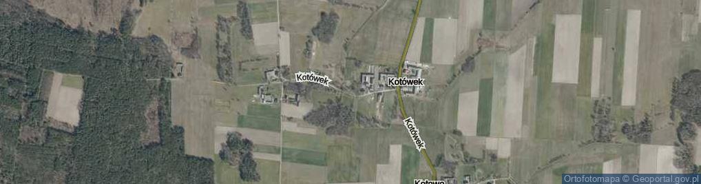 Zdjęcie satelitarne Kotówek ul.