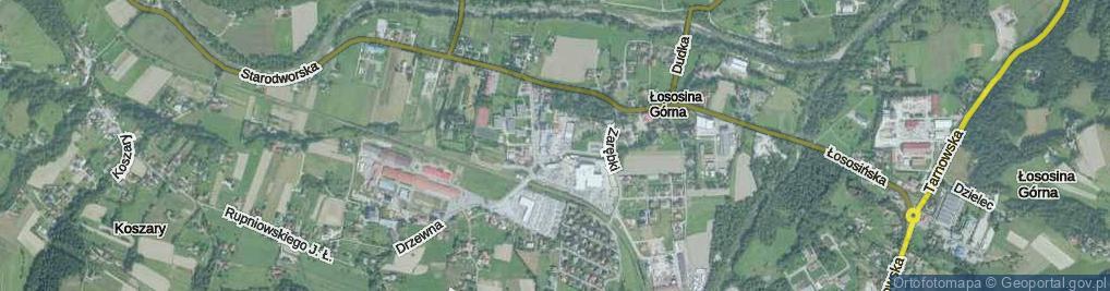 Zdjęcie satelitarne Koszarska ul.