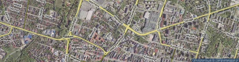 Zdjęcie satelitarne Koszarowa ul.