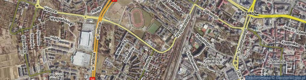 Zdjęcie satelitarne Kossaków ul.