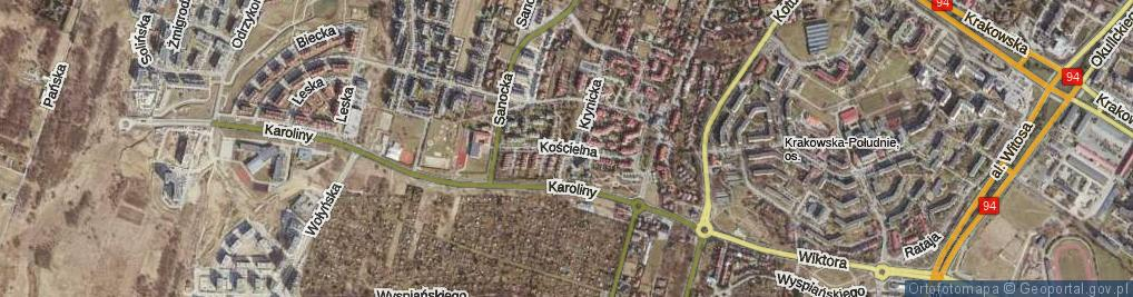 Zdjęcie satelitarne Kościelna ul.