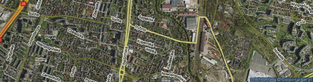 Zdjęcie satelitarne Kolibrów ul.