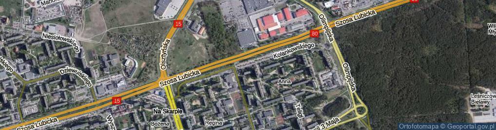 Zdjęcie satelitarne Kolankowskiego Ludwika ul.