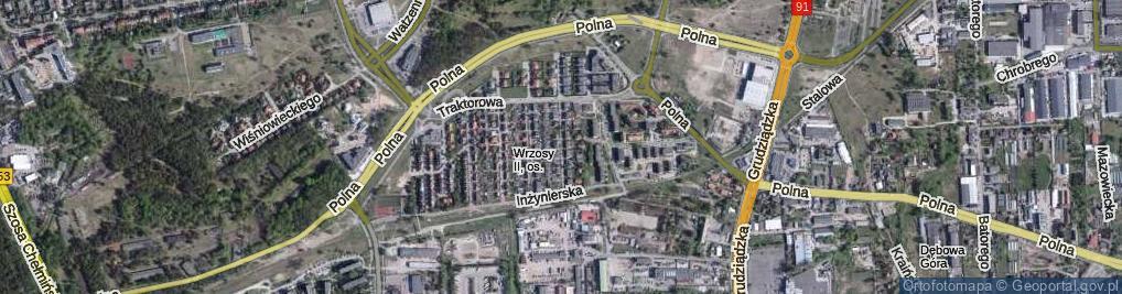 Zdjęcie satelitarne Kombajnowa ul.