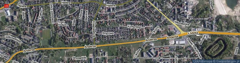 Zdjęcie satelitarne Konduktorska ul.