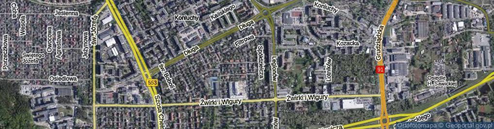 Zdjęcie satelitarne Konfekcyjna ul.
