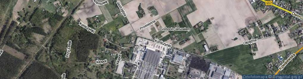 Zdjęcie satelitarne Koniczynki ul.