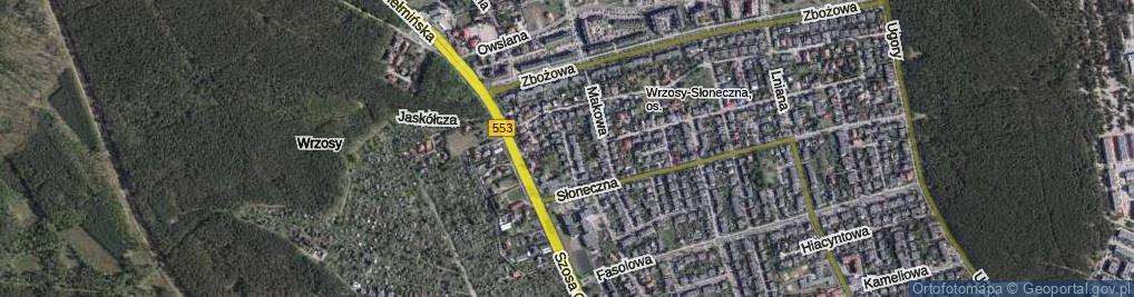 Zdjęcie satelitarne Konopna ul.