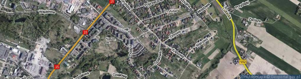 Zdjęcie satelitarne Kopciuszka ul.