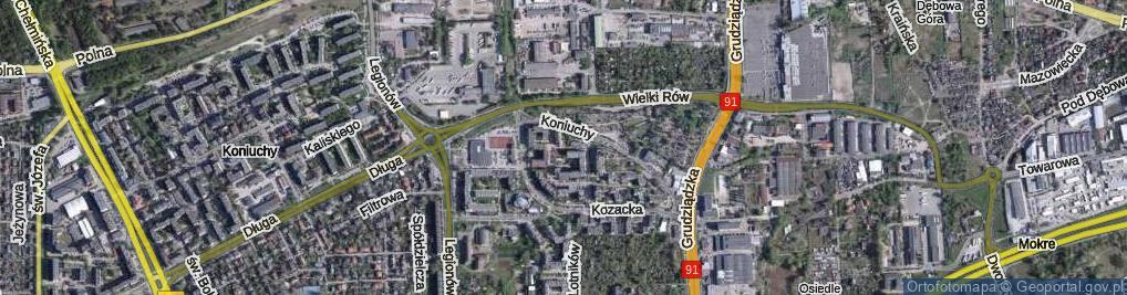 Zdjęcie satelitarne Kozacka ul.