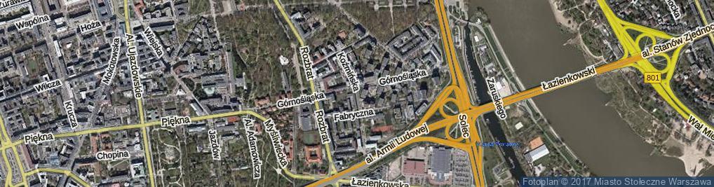 Zdjęcie satelitarne Koźmińska ul.