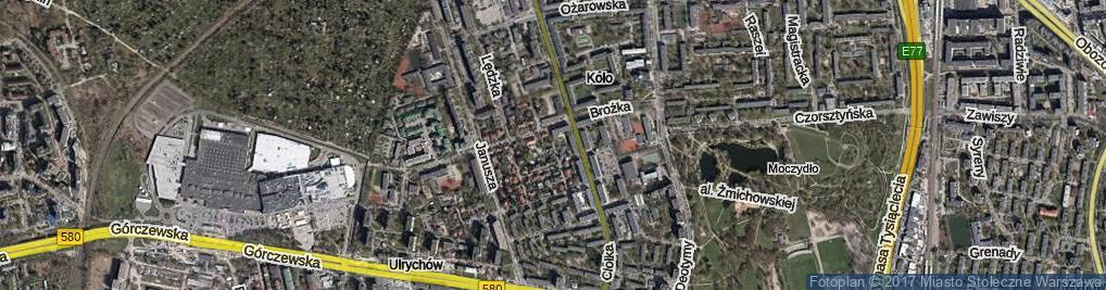 Zdjęcie satelitarne Koszycka ul.