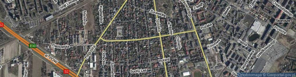 Zdjęcie satelitarne Kompanii AK Kordian ul.