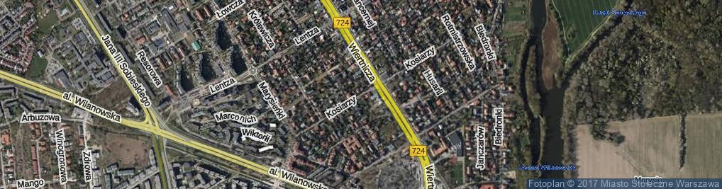 Zdjęcie satelitarne Kosiarzy ul.