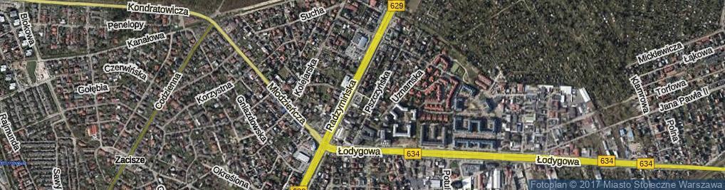 Zdjęcie satelitarne Kokoszków Jadwigi i Witolda ul.