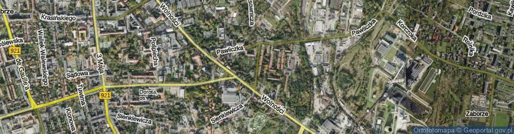Zdjęcie satelitarne Końcowa ul.
