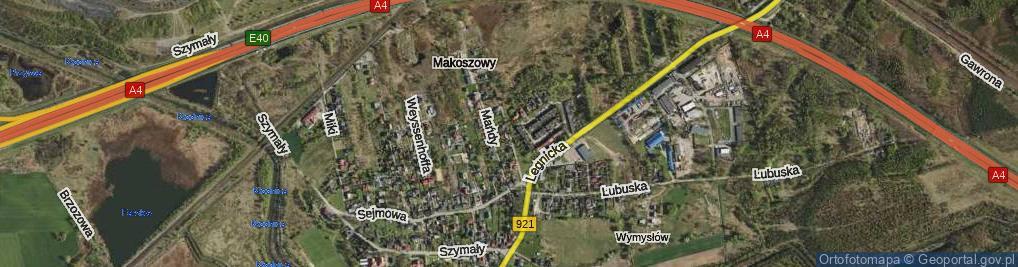 Zdjęcie satelitarne Kordeckiego Augustyna, przeora ul.
