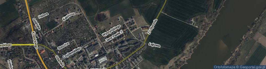 Zdjęcie satelitarne Kremskiego ul.
