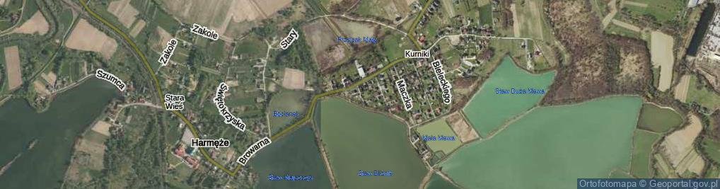 Zdjęcie satelitarne Króla, por. ul.