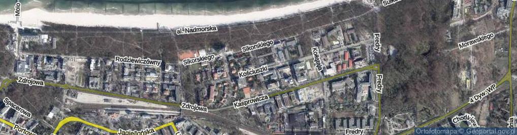 Zdjęcie satelitarne Krakusa i Wandy ul.