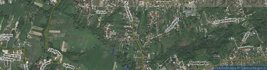 Zdjęcie satelitarne Krzyżańskiego Mirosława ul.