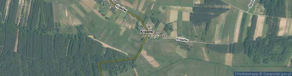 Zdjęcie satelitarne Krasów ul.