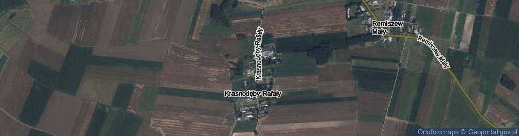 Zdjęcie satelitarne Krasnodęby-Rafały ul.