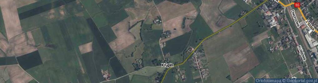 Zdjęcie satelitarne Krupin ul.