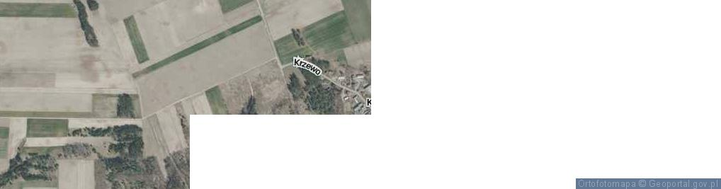 Zdjęcie satelitarne Krzewo ul.