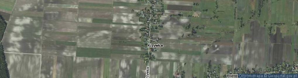 Zdjęcie satelitarne Krzywice ul.