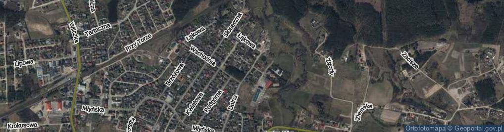 Zdjęcie satelitarne Krótka ul.