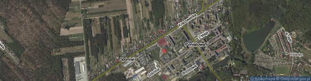 Zdjęcie satelitarne Kraczewicka ul.