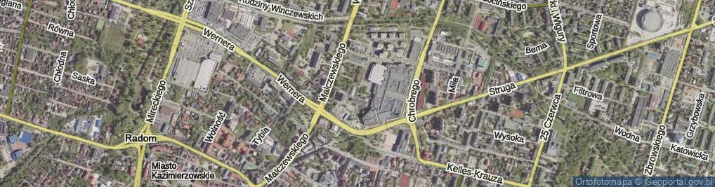 Zdjęcie satelitarne Krukowskiego Włodzimierza, prof. ul.