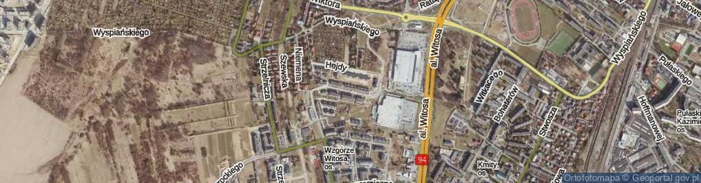 Zdjęcie satelitarne Krajobrazowa ul.