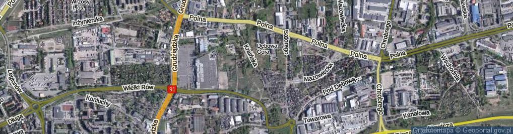 Zdjęcie satelitarne Kraińska ul.