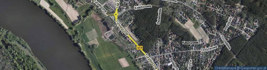 Zdjęcie satelitarne Krajoznawcza ul.
