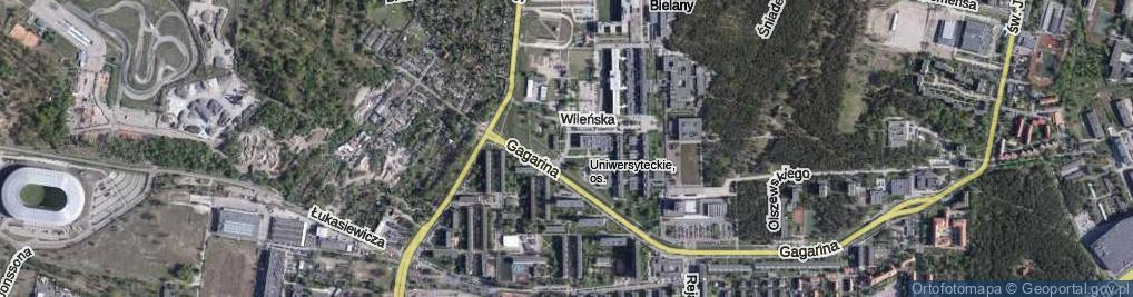 Zdjęcie satelitarne Krzemieniecka ul.