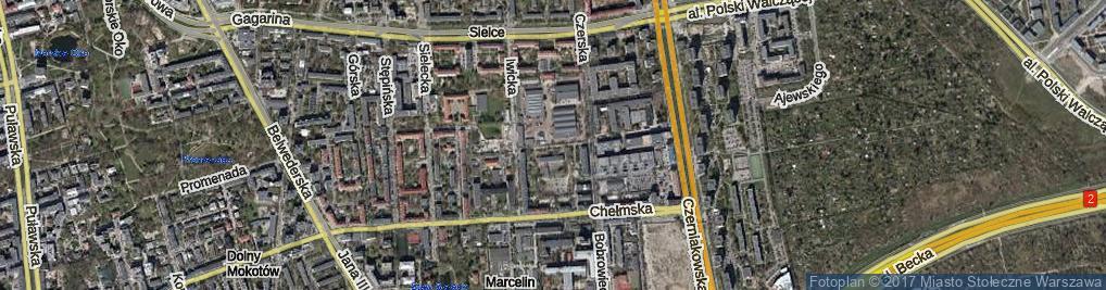 Zdjęcie satelitarne Krasnołęcka ul.