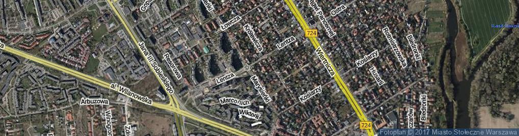Zdjęcie satelitarne Królewicza Aleksandra ul.